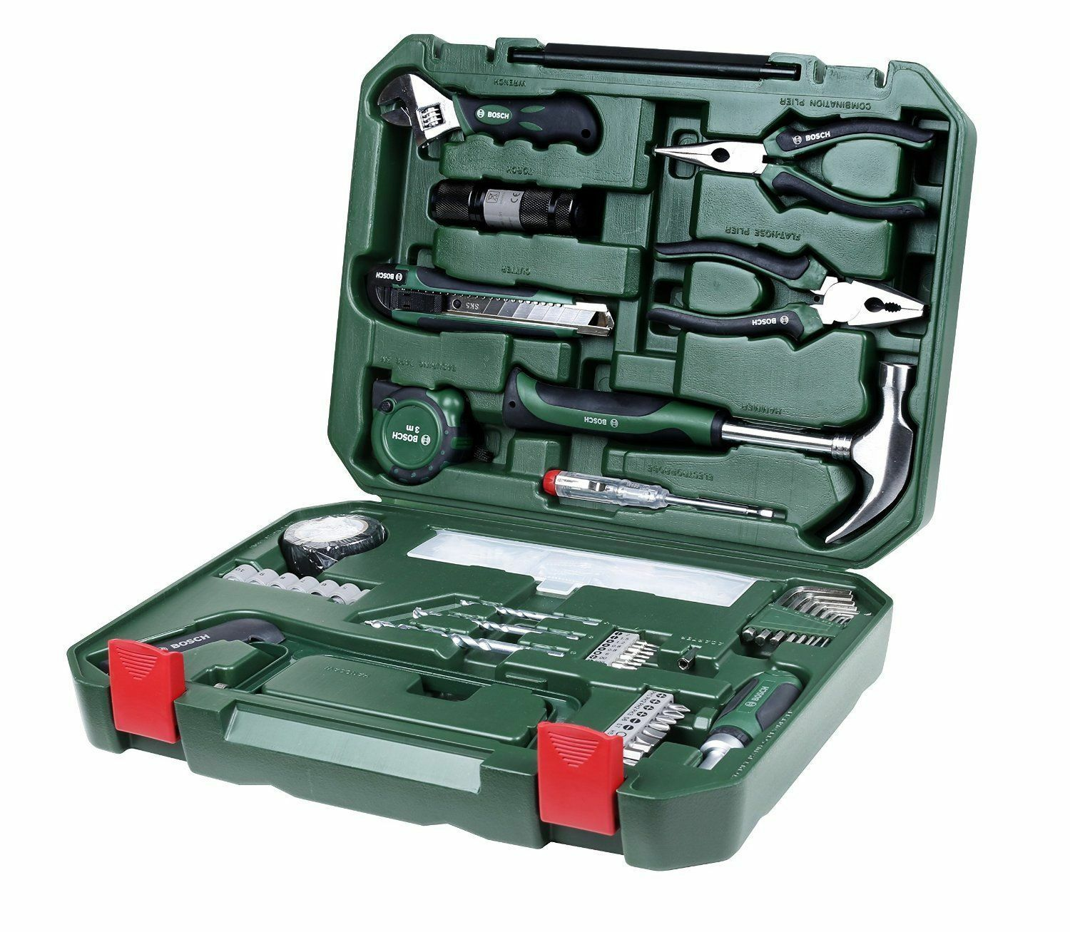 Bosch All in one metal hand tool kit (108 pieces)