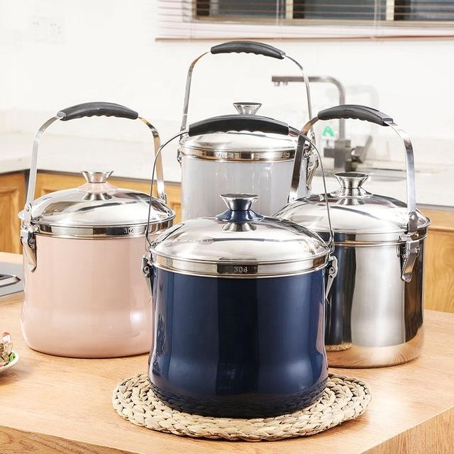 7L Stainless steel energy saving pot kitchen flame free reboiling magic cooking pot