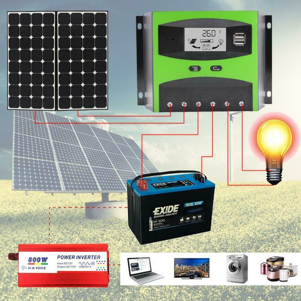 PWM 30/50A 12V/24V Solar Panel Controller Regulator Charge Battery Protection MT
