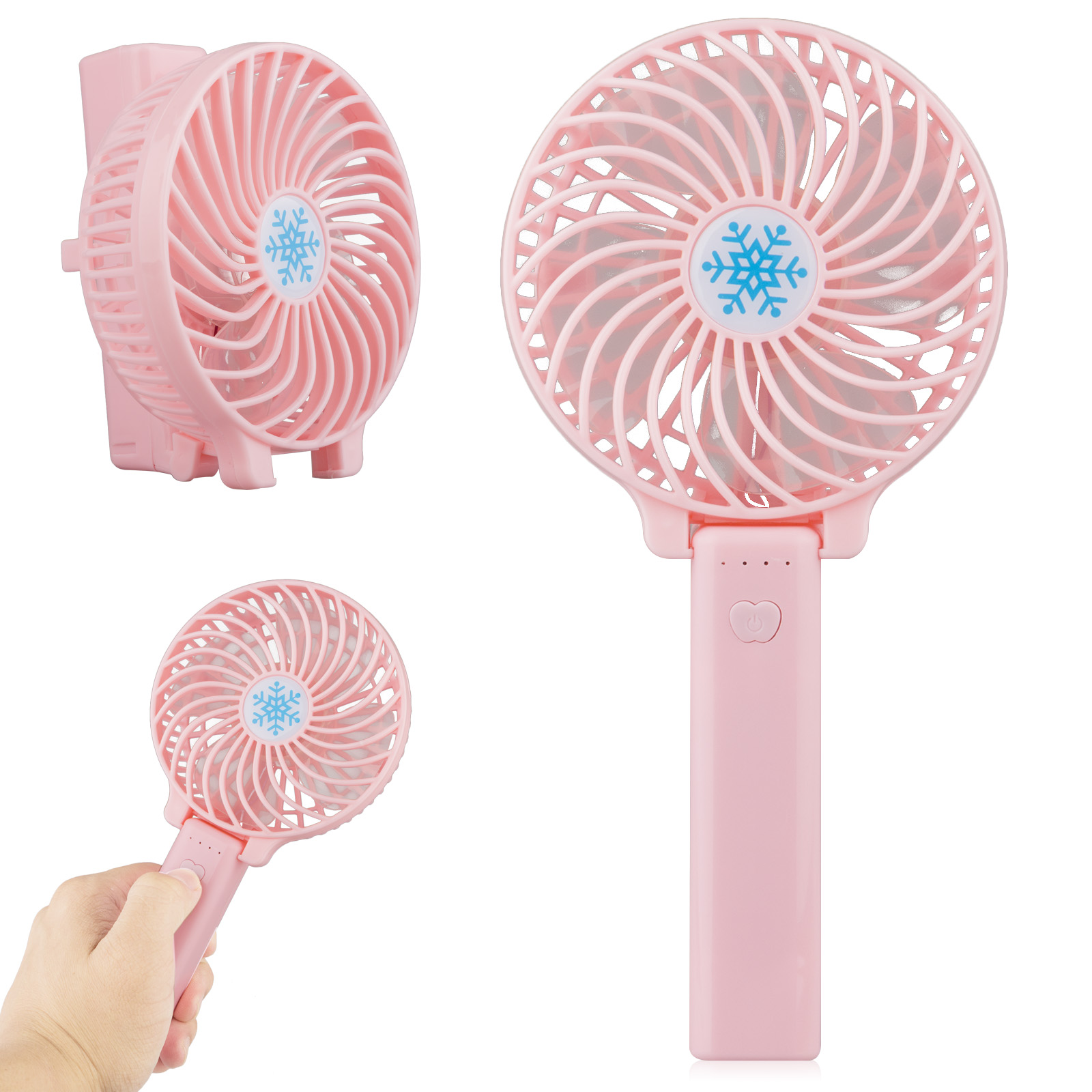 Mini Handheld Fan, with USB Rechargeable Battery, Foldable Personal Portable