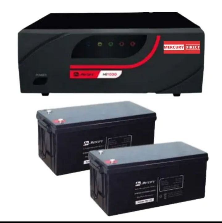 Mercury 1.6kva Pure Sine Wave Inverter System 2x 200ah Batteries