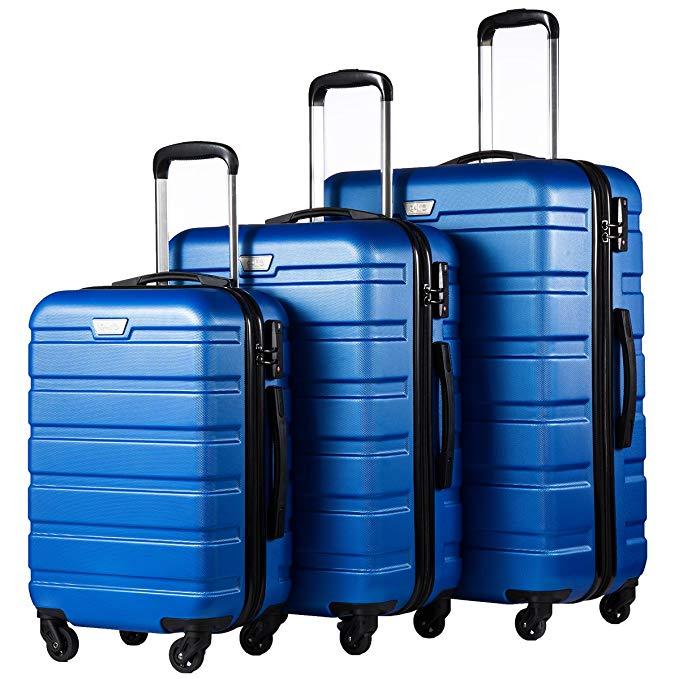 Coolife Luggage 3 Piece Set Suitcase Spinner Hardshell Lightweight TSA Lock