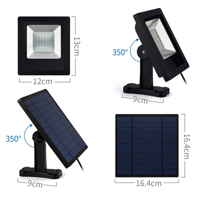 Solar Lights Outdoor, IP65 Waterproof Solar Lights(White Light)