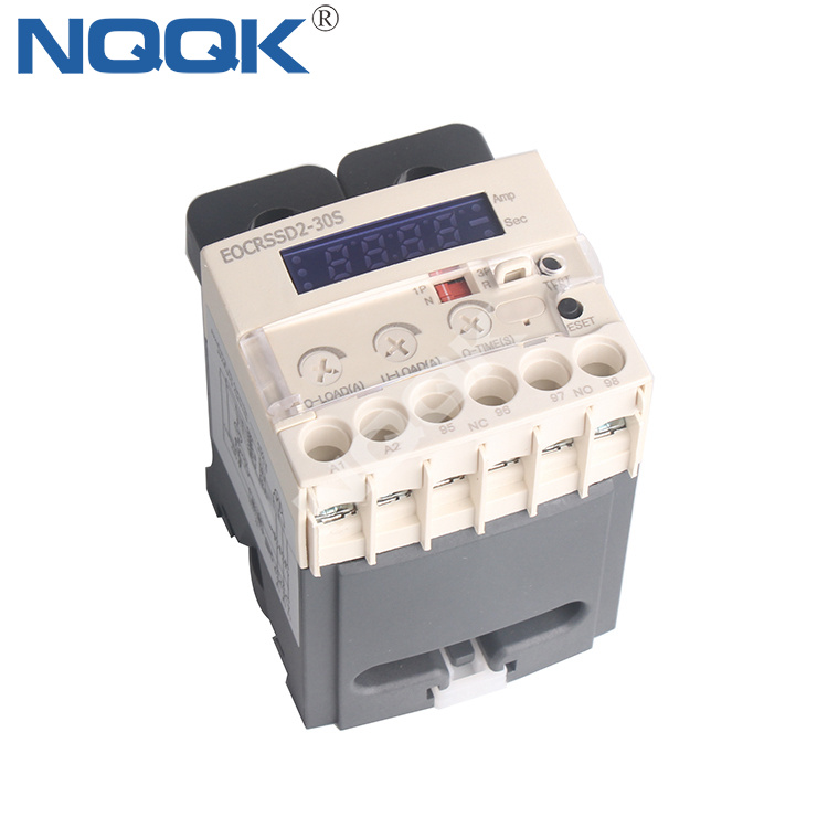 EOCRSSD-30S Din Rail 1-60A single phase current monitor electronic overcurrent relay