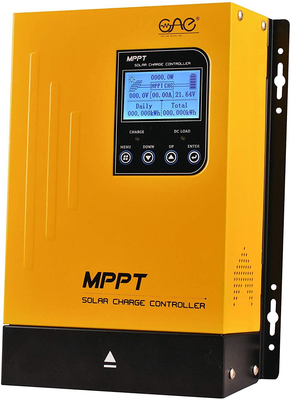 60A MPPT Solar Charge Controller 48V 36V 24V 12V Auto Battery System,Max 150VDC Input Solar Regulator Negative Grounded with LCD Display for Sealed Gel AGM Flooded Lithium Battery