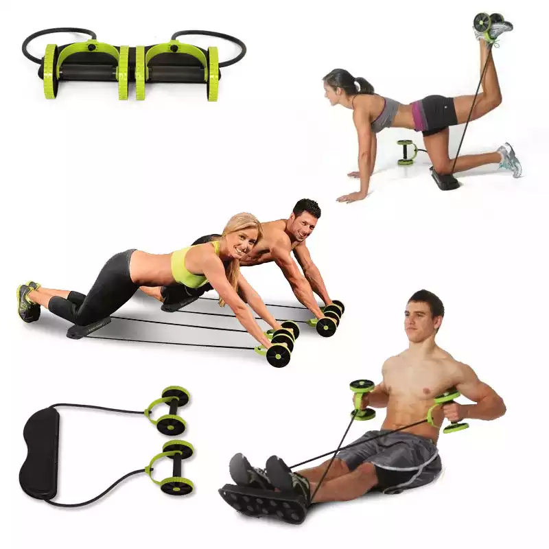 Abdominal and Full Body Workout Double Wheel