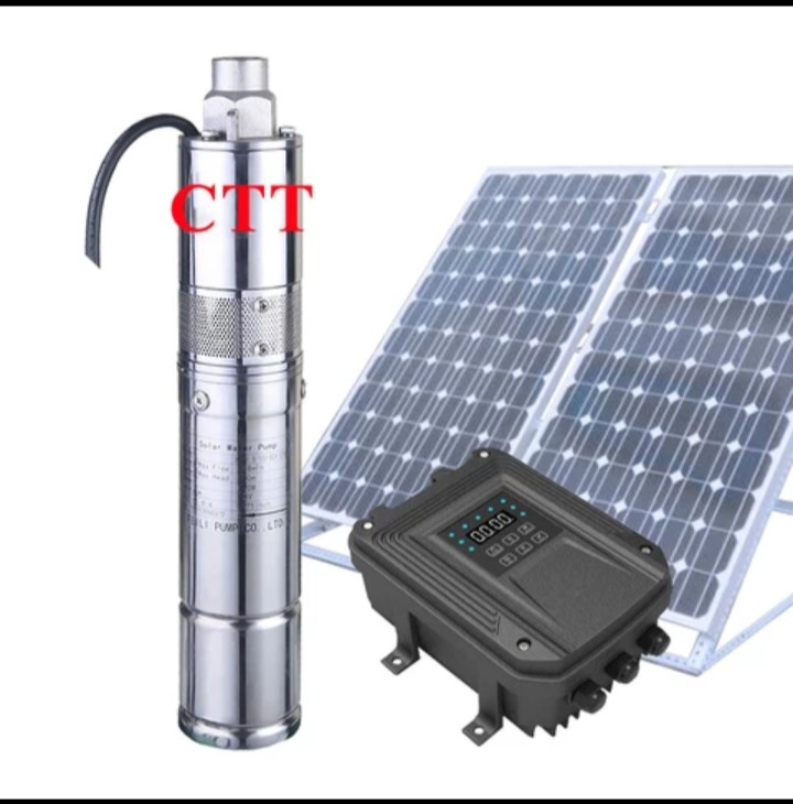 solar powered submersible well water pump 100m high pressure  submersible pump