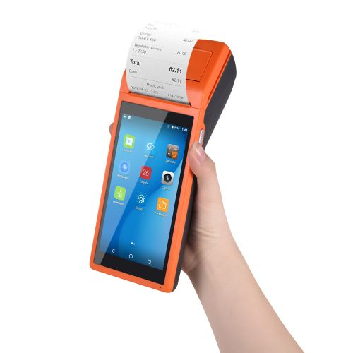 All In One Handheld PDA Printer Smart POS Terminal Wireless