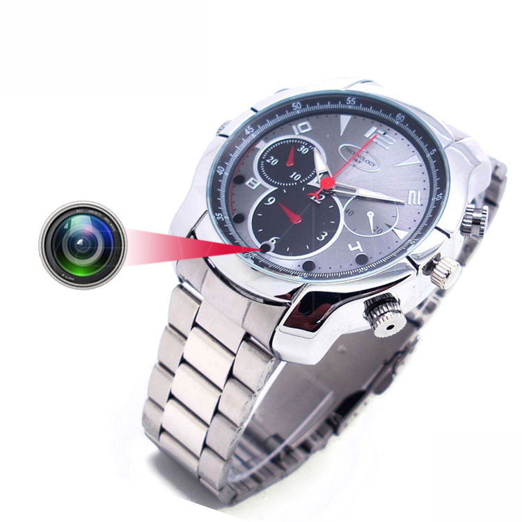 Night vision 1080P full hd Mini Spy Hidden Camera Watch with 16gb