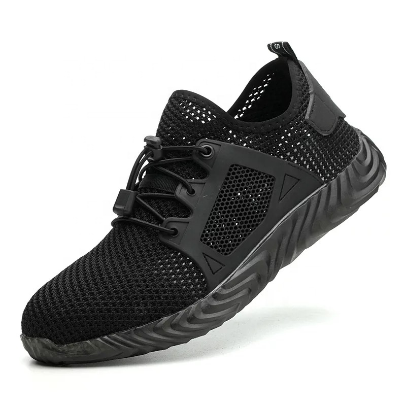 light weight anti smash puncture resistant mesh steel  safety shoes