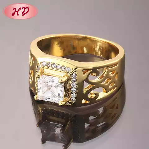 Wedding Ring Set Gold Plated For Couple