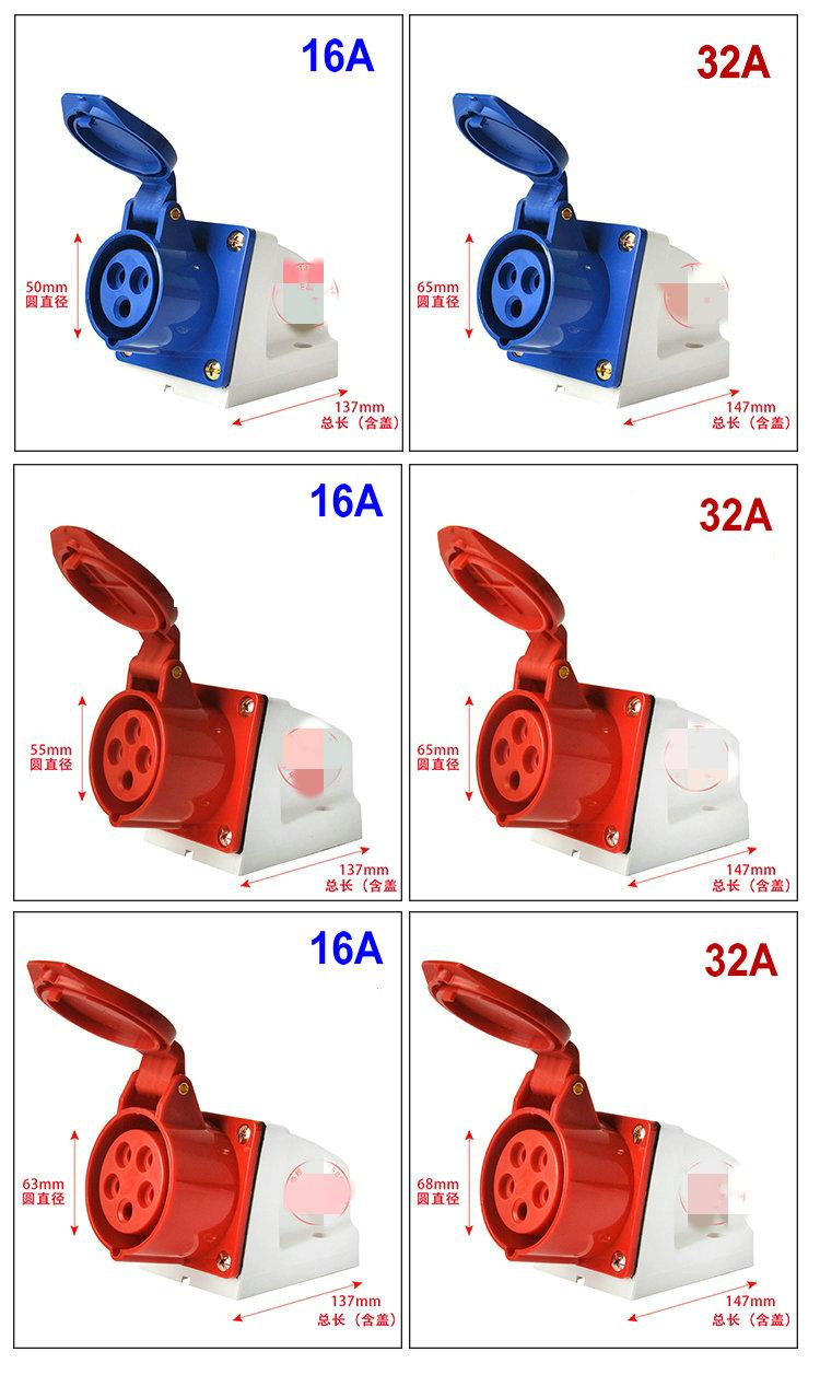32A, 5pole idustrial plug (male and female)