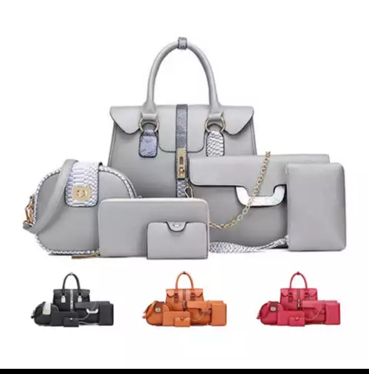 6 in 1 ladies PU leather bags