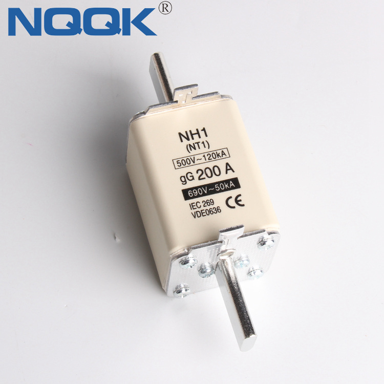 NT1 NH1 80A 125A 250A 660V 690V HRC Low Voltage Fuse Link