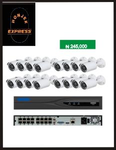 16CH H.264/H.265 POE NVR kit CCTV camara