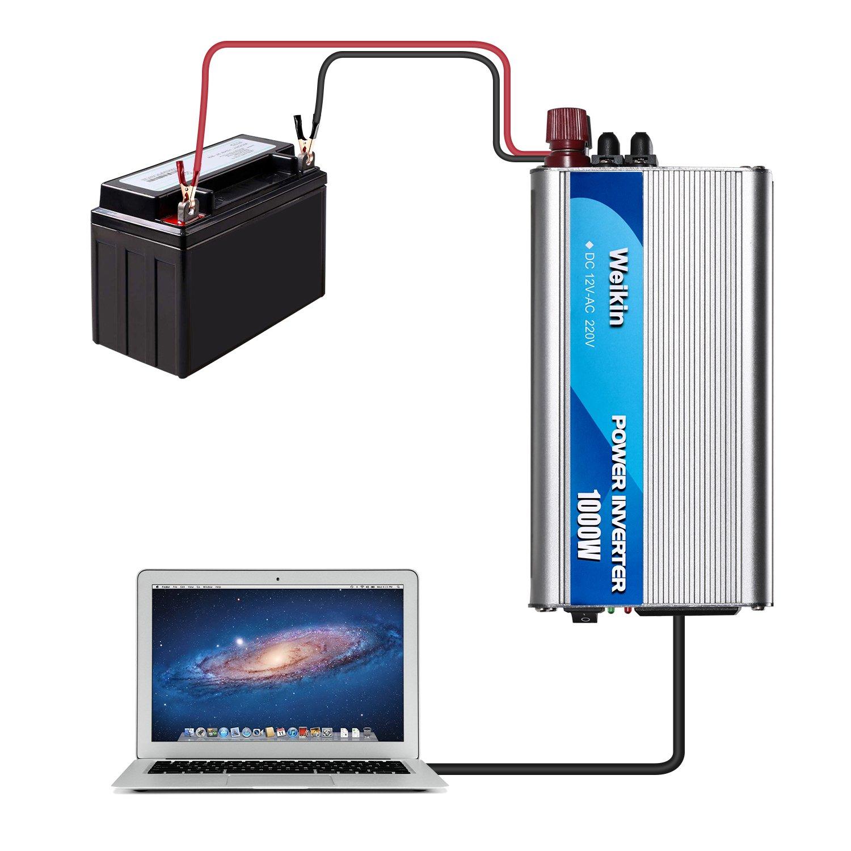Power Inverter 1000 Watt DC 12 Volt to AC 220 V 230 V 240 V for Solar Power System 1000W