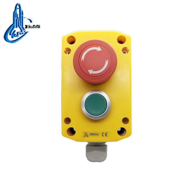 push button control station for emergency stop mushroom 1 buyer