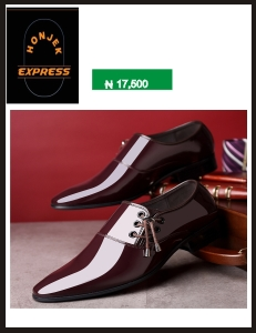 Men's business casual shoes Korean style leather shine shoe