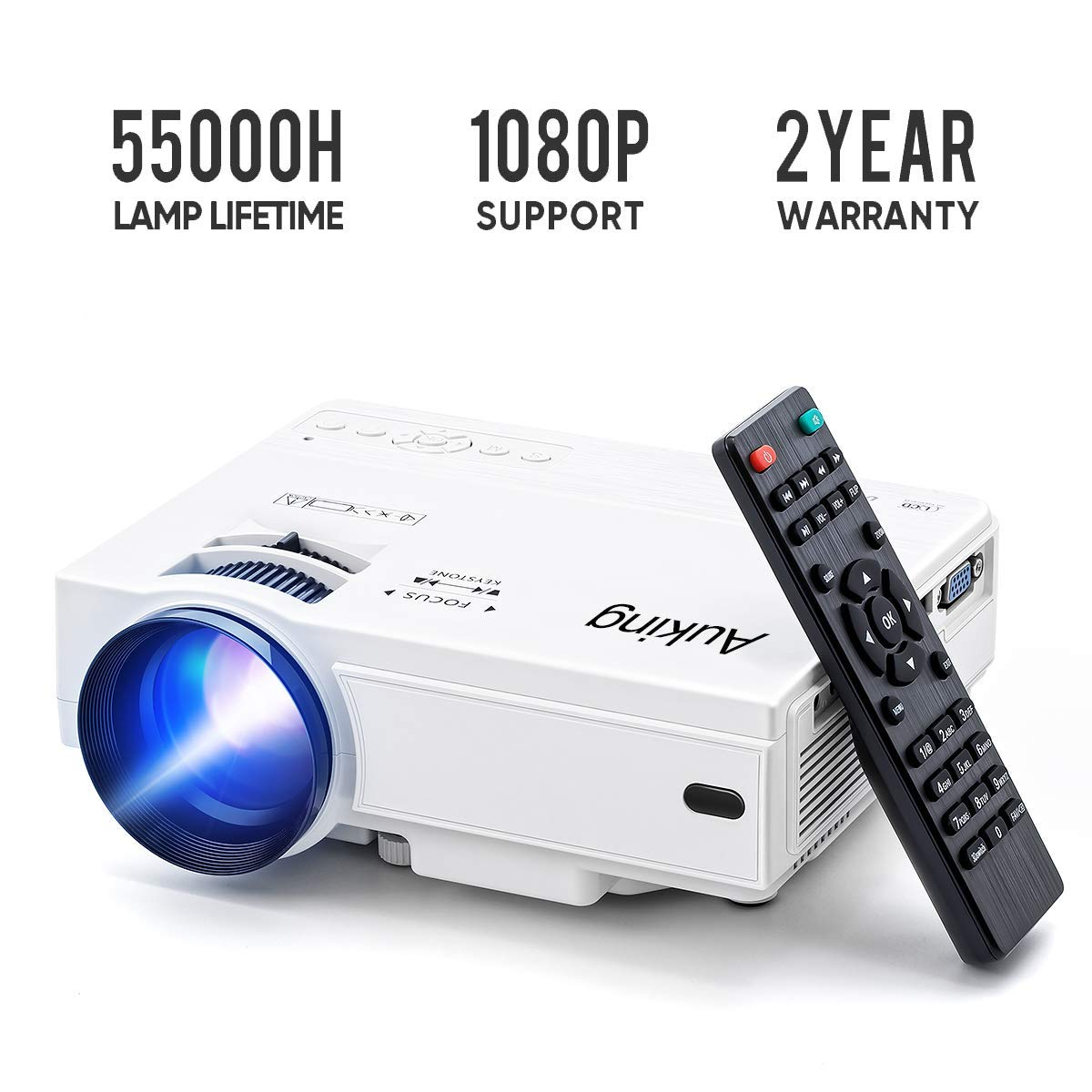 Portable Video-Projector,55000 Hours Multimedia Home Theater