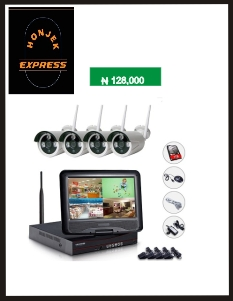 4ch 960p Wireless NVR with LCD Screen WIFI Kits