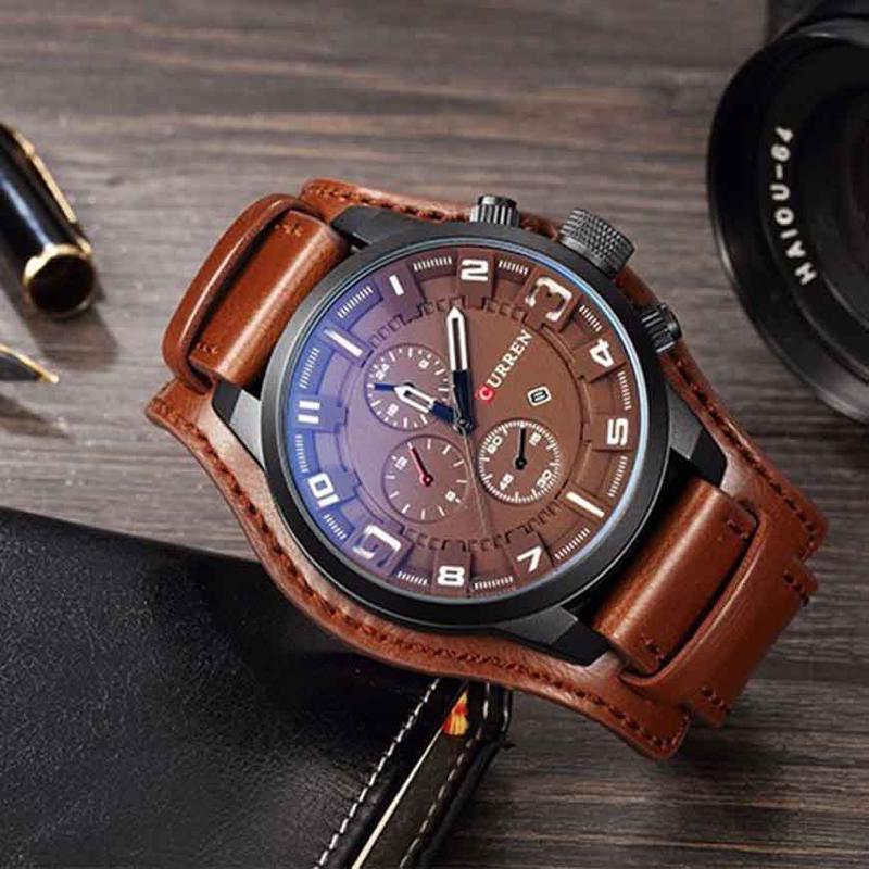 CURREN Watch Men Military Quartz Watch Mens Watches Top Brand Luxury Leather Sports