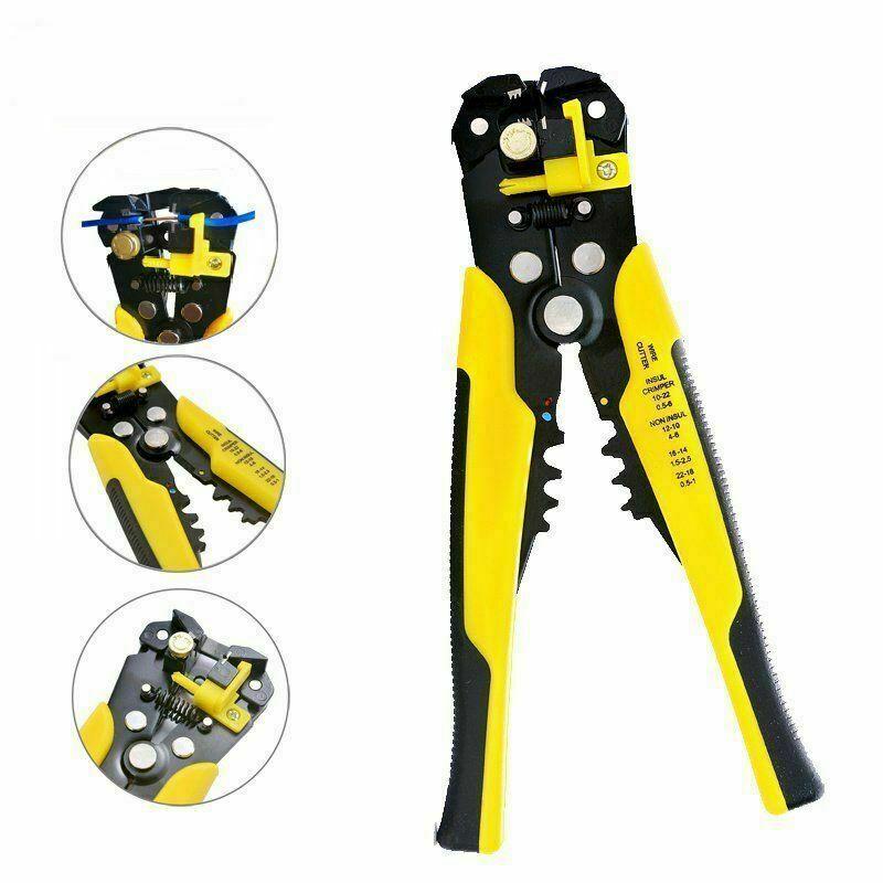 Professional Automatic Wire Striper Cutter Stripper Crimper Pliers Electric Tool