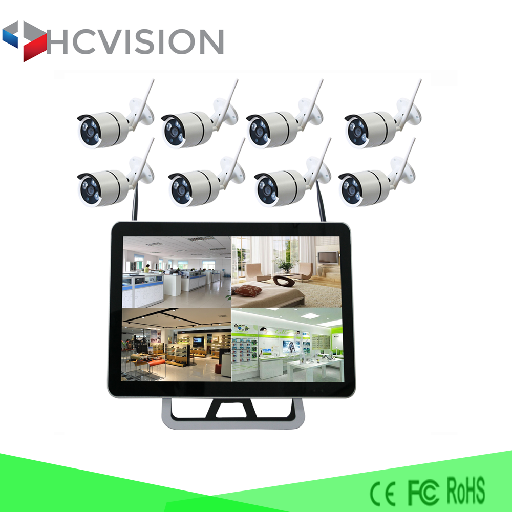 15 inch monitor all in one NVR screen LCD Samsung cctv camera