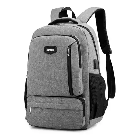 2019 multi pockets college bags usb charging backpack for teenagers schoolbag