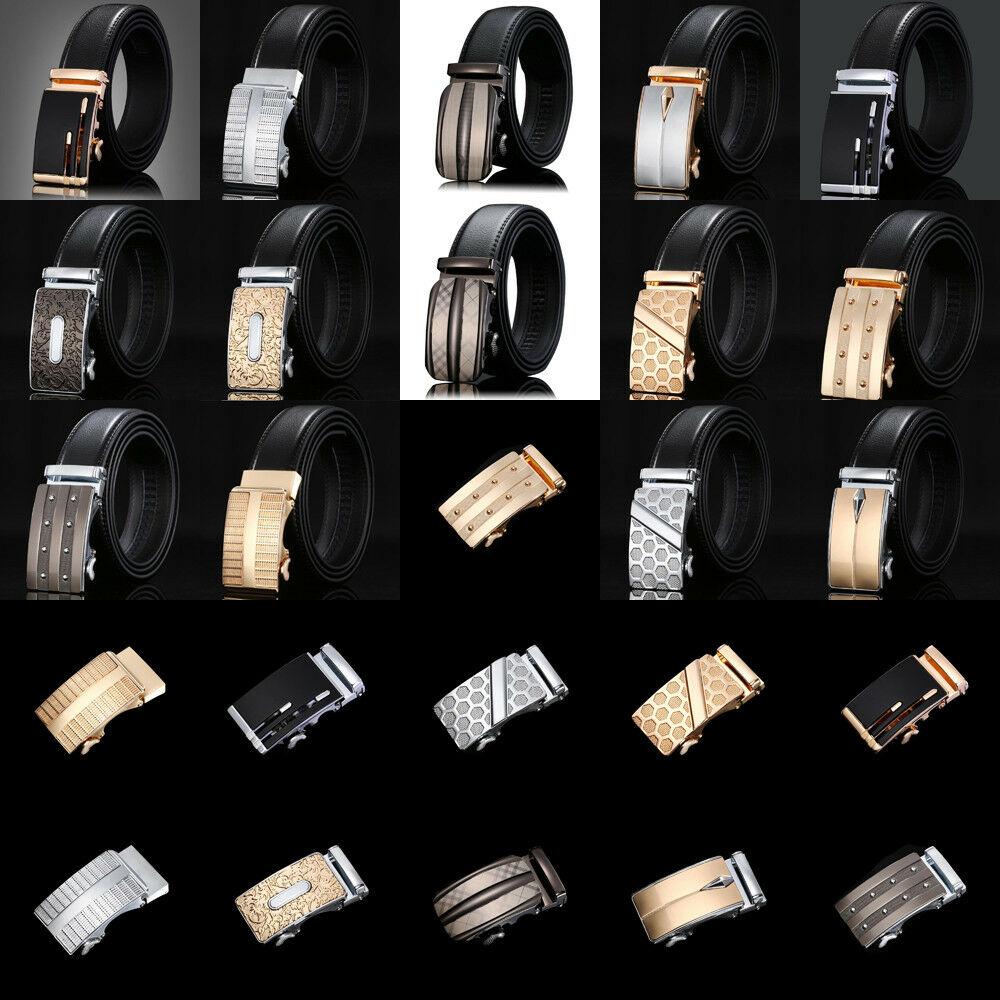 New Luxury Men's Casual Leather Waistband Automatic Buckle Belt Waist Strap Belt