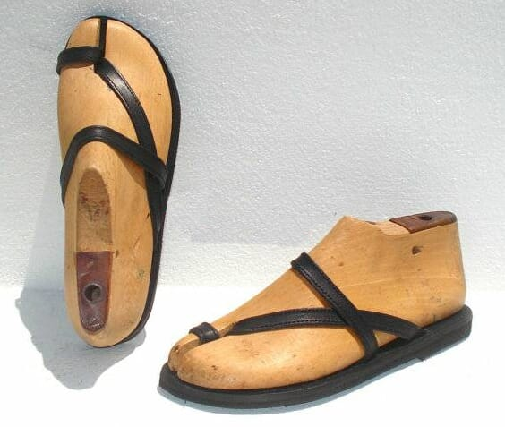 thin Straps Leather slippers