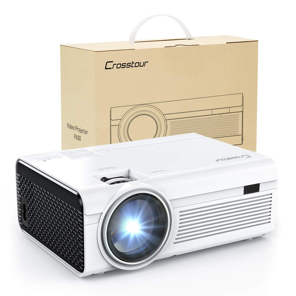 Projector, Mini LED Video Projector 1080P Supported,
