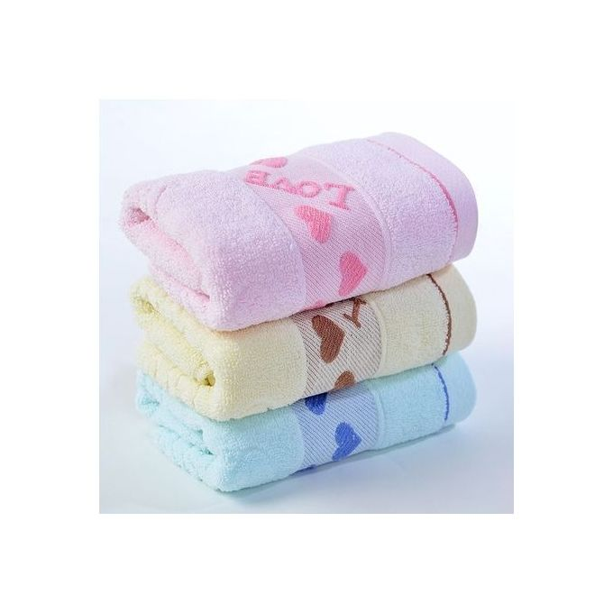 Baby Towel 3 In 1 Set-Cream/Pink/Blue ( Small Sizes)