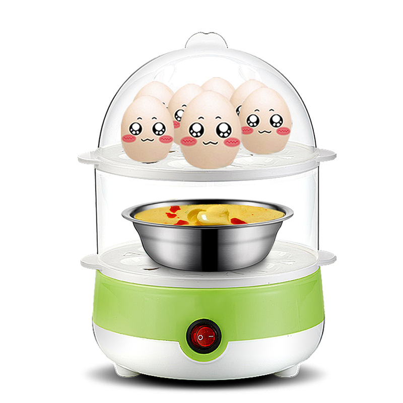3 layers plastic microwave silicone electric egg poacher & boiler for 7 eggs