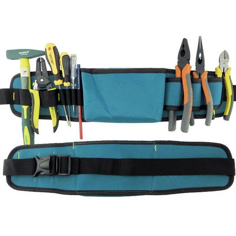Tool Belt Pocket Bag Carpenter Pouch Electrician Work Holder Padded Construction