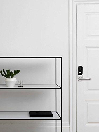 Ultraloq UL3 Fingerprint and Touchscreen Keyless Smart Lever Door Lock (Satin Nickel