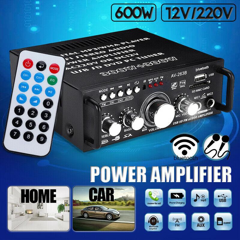 600W Mini 2CH HiFi Digital Audio Stereo Amplifier