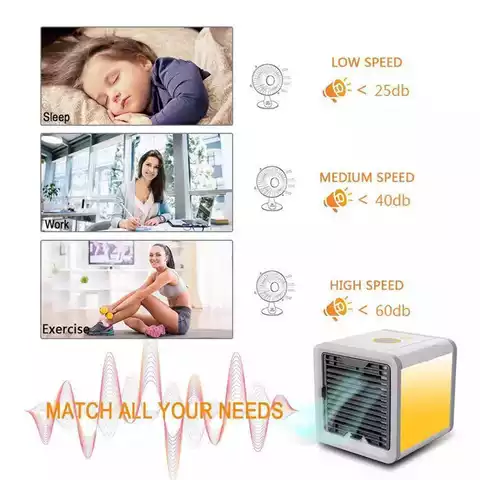 Fans Cooling Mini Air Conditioner Cooler Household Air Purifier USB Mini Air Cooler with Water