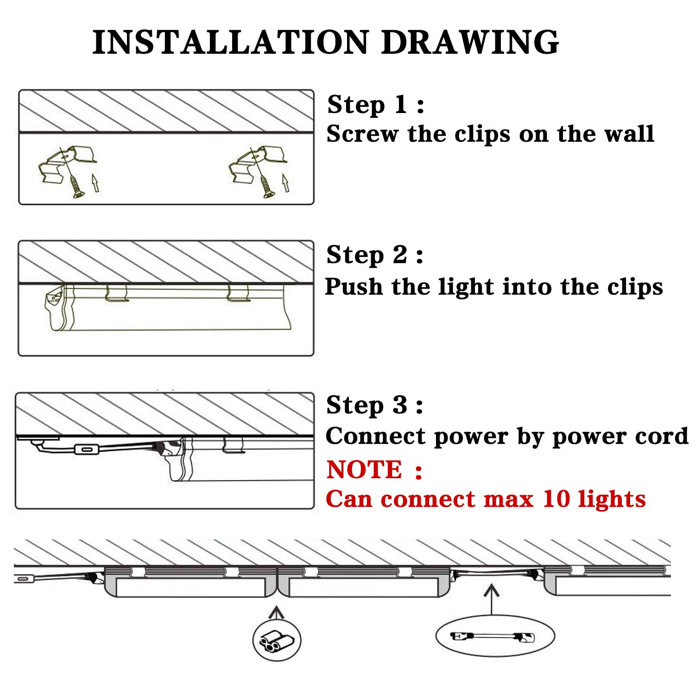 T8 Integrated Single Fixture - 2FT LED Light Fixture