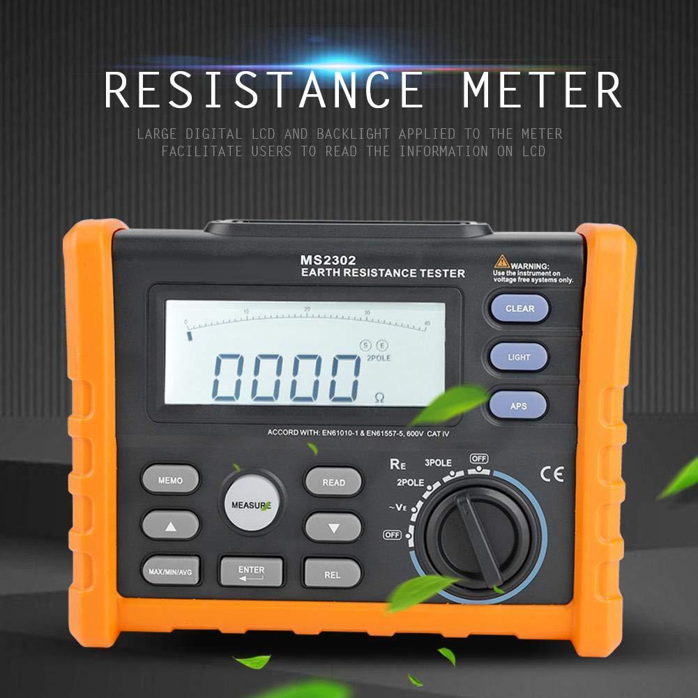 Digital Resistance Meter Ground Earth Tester