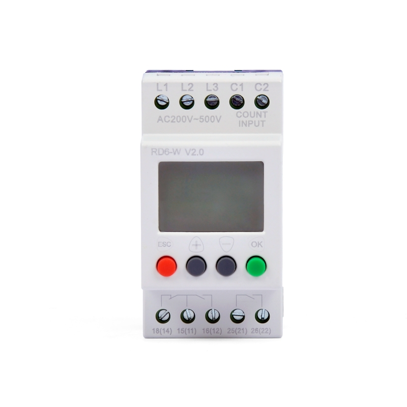 RD6-W digital LCD screen voltage monitoring protection phase lose failure relay monitor RD6-W
