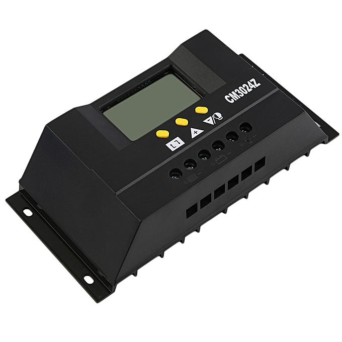 Allwin Solar Regulator 30A 12/24V Solar Charge Controller PWM LCD Display-Black