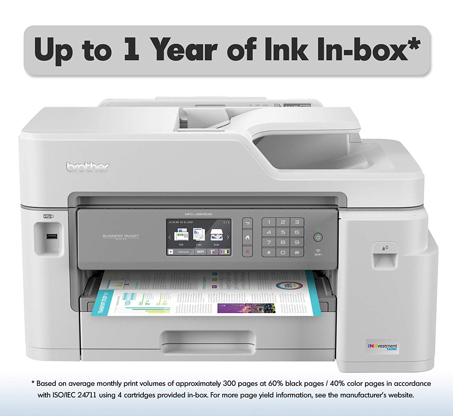 Brother Inkjet Printer, ColorAll-in-One Wireless printer