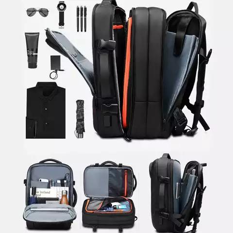 water resistant smart usb expandable backpacks bag