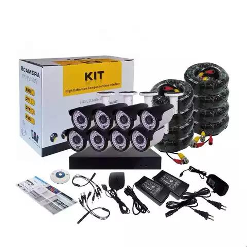 8 Channel H.264 NVR POE HD 1080P CCTV IP Cameras Kits 8 CH Home Video Surveillance