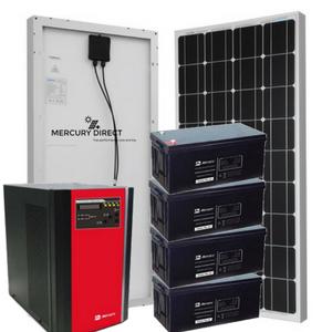 Complete 5KVA Solar System Tags: 200ah battery, 300 Watts Solar Panel, 48v, 5kva, Pure Sine Wave
