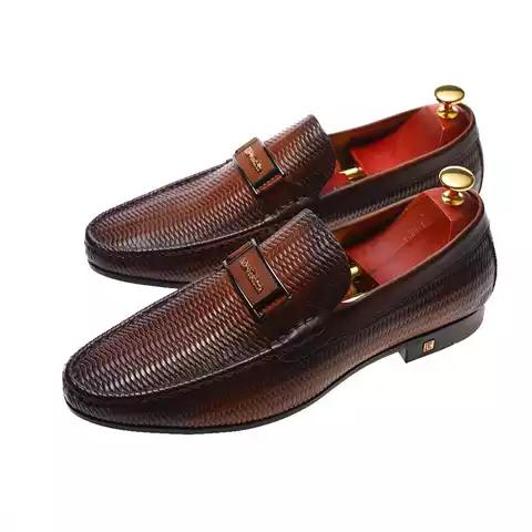 Genuine leather Italian  Men Office Shoe