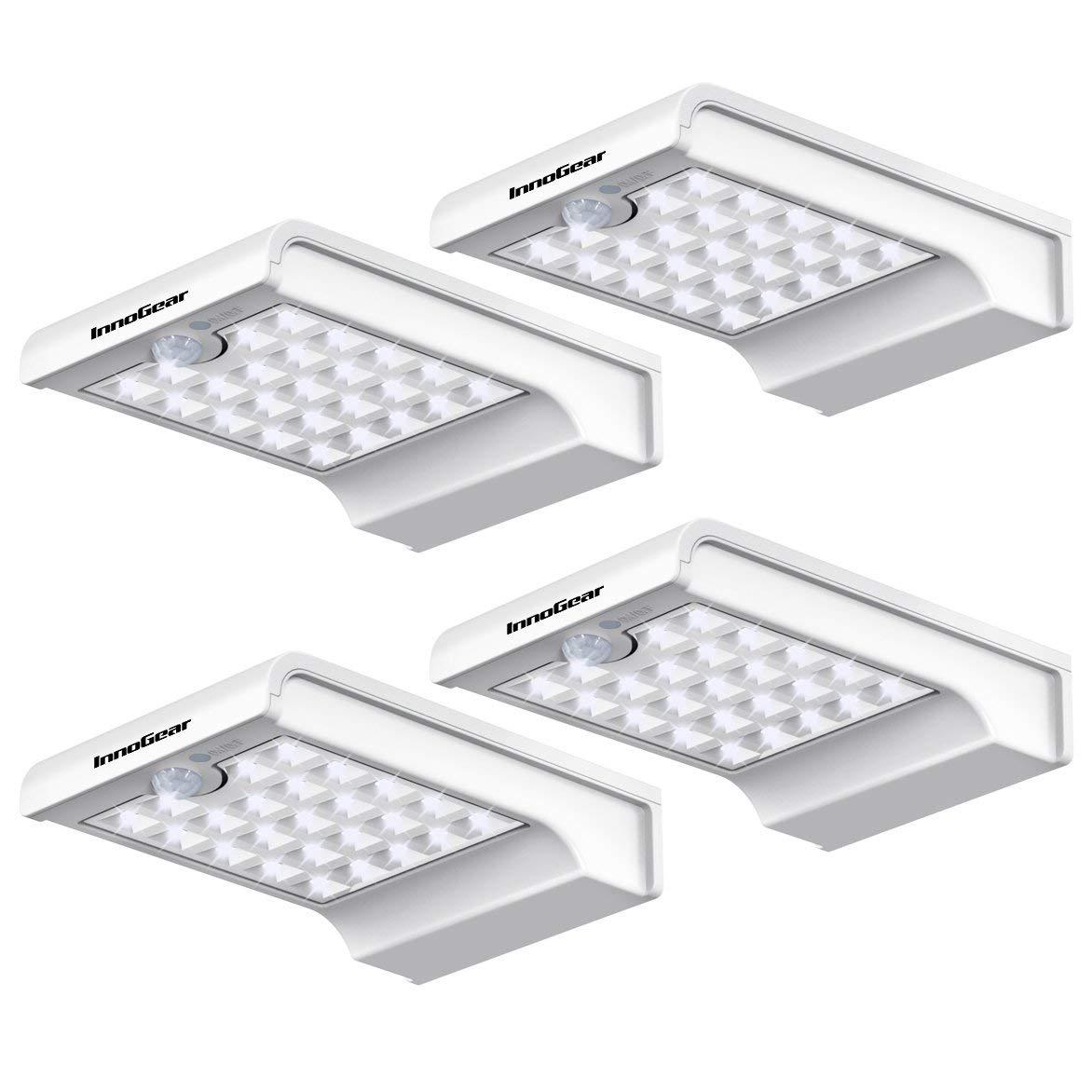 24 LED Solar Lights Dim to Bright Motion Sensor  Wall Light