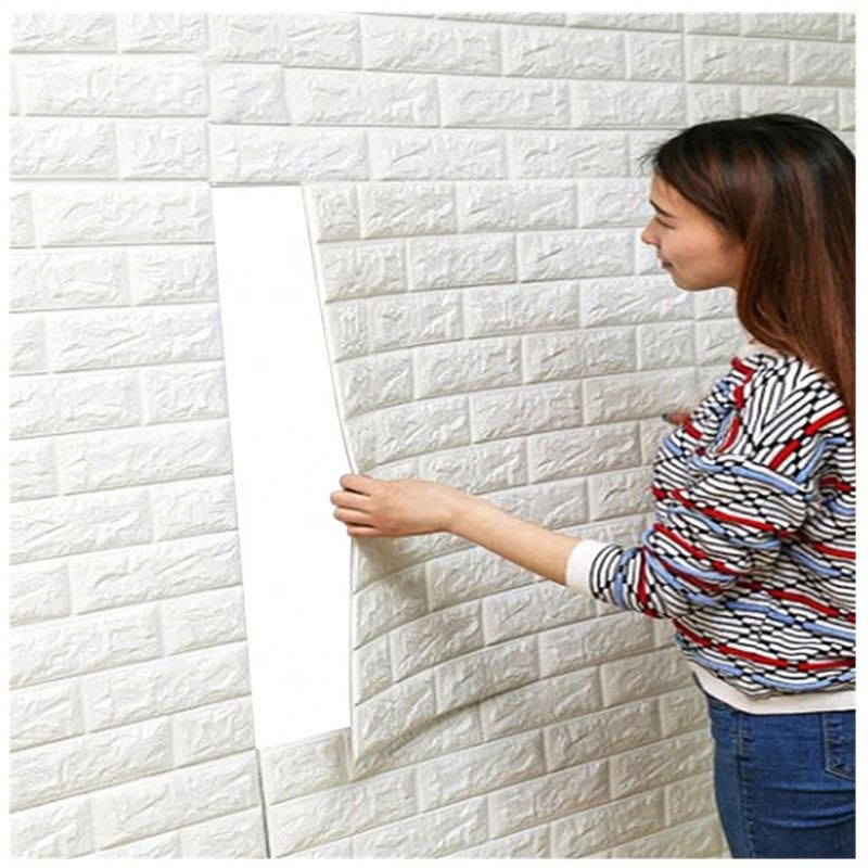 Removable Self-adhesive Home simple decoration Pvc/pe foam 3d stickers wall