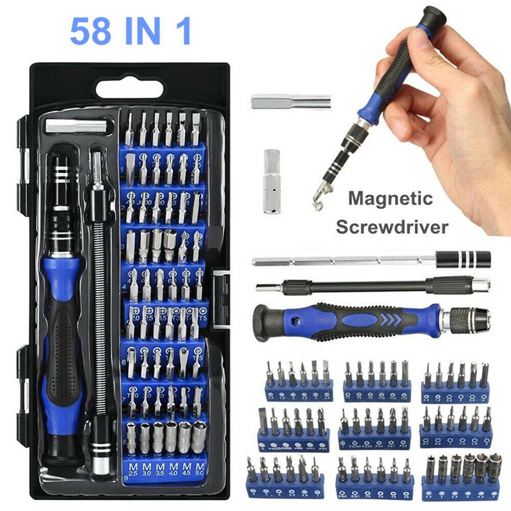 New 58 IN 1 Repair Tool Kit Precision Small Screwdriver Set 54 Bit Hand Tools