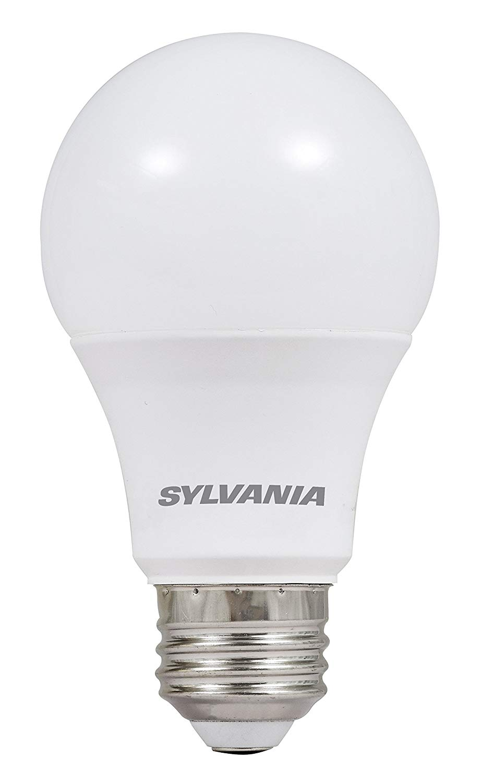 SYLVANIA 74766 60W Equivalent, LED Light Bulb, A19 Lamp, Efficient 8.5W, Bright White 5000K, 24 Pack, Piece